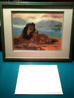 SCHEMING SCAR & SIMBA LIMITED ED. DISNEY SERICEL, LION KING, NEW MINT COA FRAMED