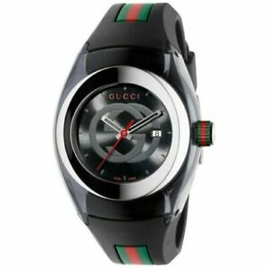 Gucci YA137101 Sync XXL Watch BLACK Brand New Authentic