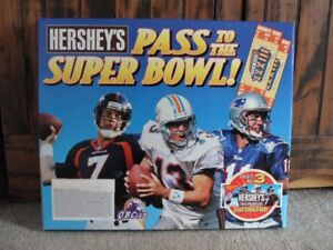 >1999 SUPER BOWL XXXlll Hershey's Chocolate STORE DISPLAY Elway/Marino/Bledsoe