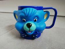 Disney? Comic  Kinder Baby 3D Becher Tier Tasse Kunststoff  Bär Hund blau