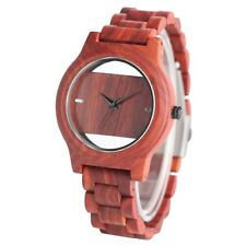 Hollow Wooden Watch Men Nature Full Wood Watches Bamboo Wristwatch Bracelet