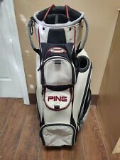 New listing Ping Pioneer LC 14 Divider Golf Cart Bag White/Black/Red