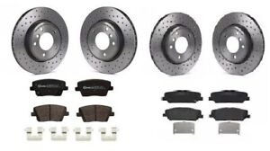 FOR HYUNDAI I30N 2.0 PD FRONT REAR PERFORMANCE DRILLED BRAKE DISCS VENTED PADS