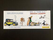 FRANQUIN * FEUILLET PUBLICITAIRE GASTON LAGAFFE Melle JEANNE FETE DU TIMBRE 2001