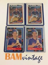 Gregg Jefferies RC 1988 Topps Donruss Rookie 4 Baseball Card LOT NY Mets MLB