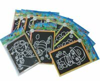 10/20pcs KIDS MAGIC SCRATCH ART DOODLE PAD PAINTING CARDS EARLY EDUCATIONAL TOYS
