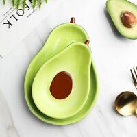 Lovely Avocado Shape Plate Bowl Set Fruit Dish Noodle Dinnerware Crockery Supply