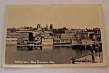 VINTAGE 1943 REAL PHOTO WATERFRONT PORT TOWNSHED WN. WASHINGTON POSTCARD