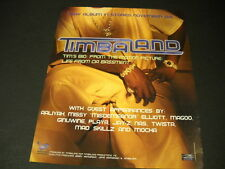 TIMBALAND his new album comes November 24, 1998 PROMO POSTER AD mint condition