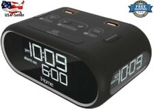iHome LCD Triple Display Alarm Clock With Dual USB Charging