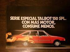 Catalogo Automóvil Talbot 150 SPL
