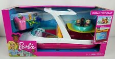 Barbie Estate Dolphin Magic Ocean View Boat Playset With 3 Puppies & Accessories
