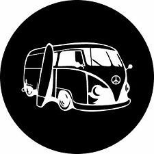 VW Peace Surf Bus VW, RV, Trailer Spare Tire Cover