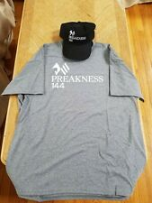 144TH 2019 PREAKNESS STAKES (PIMLICO) SHIRT & HAT COLLECTIBLE SOUVENIR LOT! NEW!