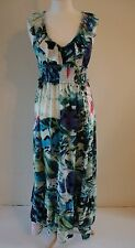 TRAFFIC PEOPLE LONG  DRESS, BLUE/GREEN, - SMALL -  8/10, BRAND NEW WITH TAGS