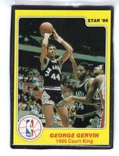 "1986  GEORGE GERVIN - STAR ""Court King""  Basketball Card # 15 - SAN ANTONIO"