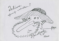 RON MOODY Signed 12x8 Drawing Of Fagin OLIVER COA