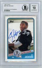 Bo Jackson 1988 Topps Autograph Rookie Card #327 - BGS 10