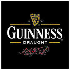 """Guiness Draught Ale Alcohol Bumper sticker, wall decor, vinyl decal, 5""""x 5"""""""