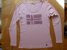 Napapijri - Damen - Shirt Langarm - Rosaton mit Stickerei - Flagge - Gr.M - Neu