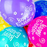 10 Pack Happy Easter Multi Coloured Printed Latex Balloons Celebration 12 Inches