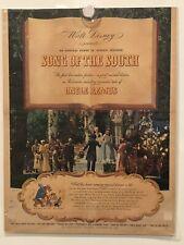 SONG OF THE SOUTH Vintage Original Magazine Advertisement - 1946 - WALT DISNEY
