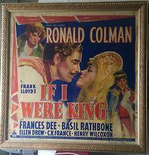 Ronald Colman Movie Poster 1938, If I Were King, Framed, Antique, Rare