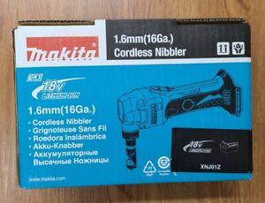 * New Makita 18V LXT XNJ01Z Cordless 1.6MM 16 Gauge Nibbler, Tool Only