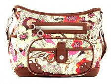 Oilily Tropical Birds S Shoulder Bag Umhängetasche Tasche Off White Weiß Beige