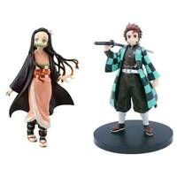 Anime Demon Slayer Kimetsu No Yaiba Kamado Tanjirou Nezuko PVC Action Figu Nice