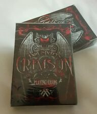 CRIMSON 1ed Dan Sperry rare playing cards ellusionist Theory deck