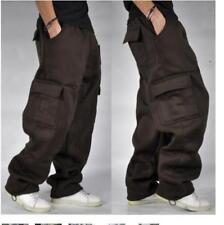 Mens Cargo Baggy Hip Hop Long Pant Trouser Athletic Sweatpants Cotton 11Color Y7