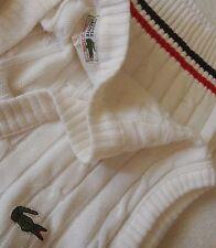 VEST cardigan vintage '80s LACOSTE TG.2 veste M circa made in France RARE