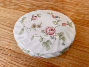 Wedgwood Rosehip Bone China Oval Trinket Box
