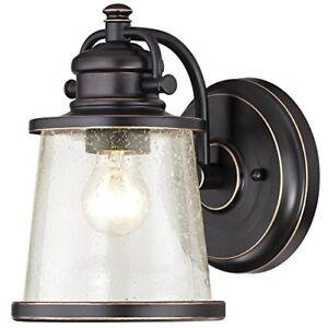 Westinghouse 6204000 Emma Jane 1 Light Outdoor Wall Lantern, Amber Bronze