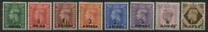 Oman KGVI 1948 overprinted values 1/2 anna to 1 rupee mint o.g.