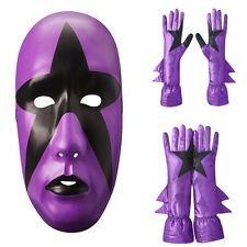 Stardust Mask Gloves Set Cosplay Costume Wrestling lot WWE WWF ROH TNA Purple