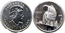 2006 $1 Canada Silver Timber Wolf 1/2 Oz. .9999 Fine Original 10 Coin Sleeve