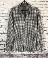 BONOBOS Slim Fit Check Button-Up Flannel Shirt Mens Size XL
