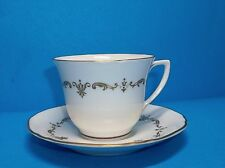"ROYAL WORCERSTER ""GOLD CHANTILLY"" TEACUP AND SAUCER SET LOVELY!"