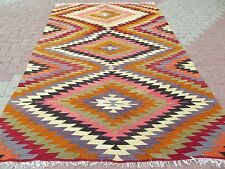 "Anatolia Turkish Antalya Classic Kilim 69,2"" x 109"" Area Rug Carpet"