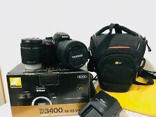 Nikon D D3400 24.2MP Digital SLR Camera - Black - Tamron 18-200mm F3.5-6.3-