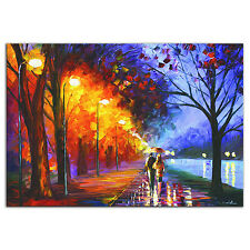 Colorful City Park Contemporary Cityscape Art Modern Romantic Metal Giclee Print