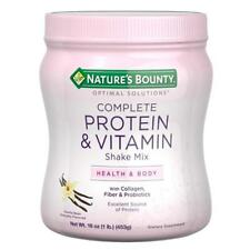 Natures Bounty Optimal Solutions Complete Protein and Vitamin Shake Mix Vanilla - 16 Oz