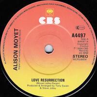 "Alison Moyet – Love Resurrection Vinyl 7"" Single UK CBS A4497 1984"
