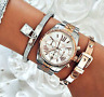 Original Michael Kors Uhr Damenuhr MK5735 Lexington  Silber/Gold/Rose Gold NEU