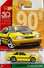 2018 HOT WHEELS 50TH ANNIVERSARY THROWBACK SERIES '92 FORD MUSTANG 6/10