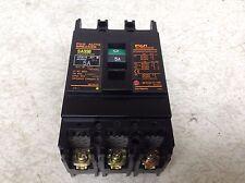 Fuji Electric SA33B BB3ASB-005 5 Amp 3 Pole Circuit Breaker BB3ASB005 (TB)