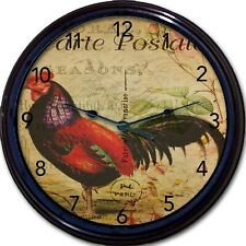Rooster Carte Postale Paris France Post Card Wall Clock Hot Air Balloon French