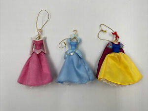 Disney Princesses Cinderella, Snow White, Aurora Christmas Ornaments